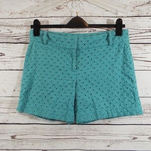 Ann Taylor Riviera Women's Turquoise Shorts Size 6